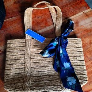 Draper James straw purse